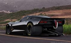 C7 Corvette Stingray Rendered as a Hennessey HPE2000 Drag Car