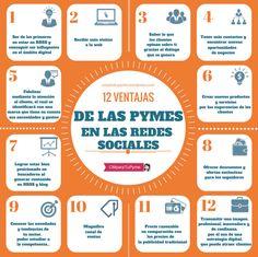 12 ventajas de las pymes en redes sociales #infografia #infographic #socialmedia