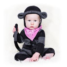 MONKEY SUIT for Baby and Toddler - Handmade Woven Cotton Animal Romper - Designer Spencer Hansen for Blamo Toys
