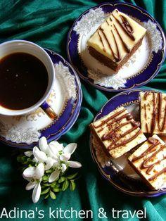 Negresa cu cafea si crema de vanilie Romanian Food, Romanian Recipes, Visiting Nyc, Gordon Ramsay, Fudge, Deserts, Goodies, Rolls, Cooking Recipes