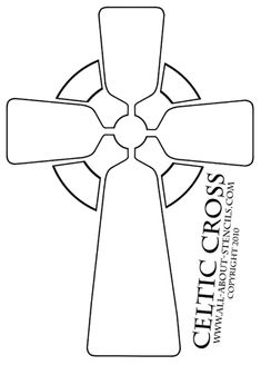 Four cross stencil designs for card making or any other art and craft project. Stenciling ideas and many free stencils.