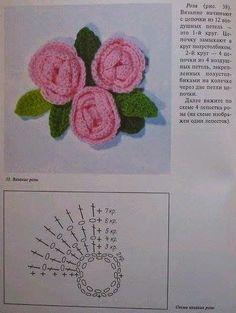 Цветы и листья для Ирландии. Flowers and leaves for Irish lace