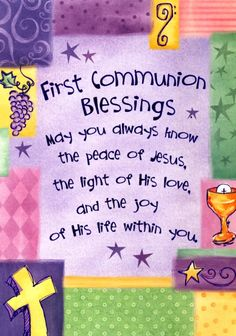 first communion blessing pictures | First Communion Blessings Greeting Card (Abbey Press 5150-2T ...