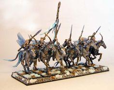 IronHalo.net Miniature Painting - Wood Elf Warhammer Glade Riders.  Really amazing work