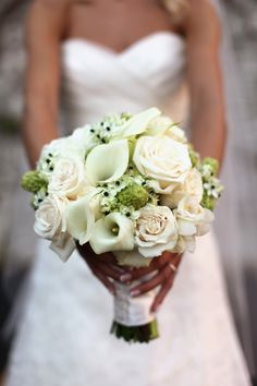 Like the primarily white/hints of green. Maybe sub roses for ranculus?