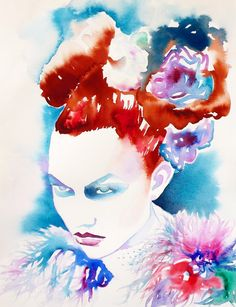 High Fashion Illustration Art Print of Original by KimberlyGodfrey, £12.00
