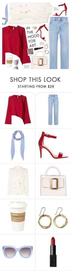 """""""in the mood for art"""" by valentino-lover ❤ liked on Polyvore featuring IRO, Goldsign, Balenciaga, Classified, Pierre Balmain, Kikkerland, NOVICA, Alice + Olivia and NARS Cosmetics"""