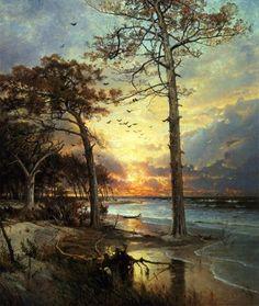 William Trost Richards: At Atlantic City. Óleo sobre lienzo (1877)