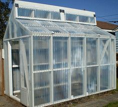 Plans for DIY greenhouse - not too far off from what we're building. Maybe leverage the idea for the top window for circulation.