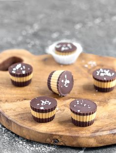 Salted Chocolate Peanut Butter Cups With Dark Chocolate, Coconut Oil, Creamy Peanut Butter, Coarse Sea Salt