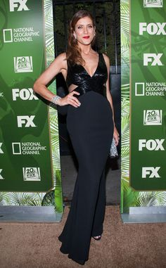 Kate Walsh In Lorena Sarbu- 2014 Emmy Awards After Party