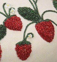 Strawberry Pot (Detail)  1997  Tammy Tarbell Boehning (Mohawk)  Clay, beads