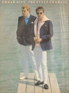 The Style Council: Mick Talbot and Paul Weller The Style Council, New Wave Music, Uk Actors, Paul Weller, Ivy Style, Teddy Boys, Miles Davis, Jazz Musicians, New Bands