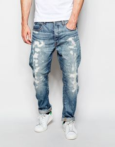 G-Star Jeans Type C 3D Tapered Fit Hydrite Light Aged Restored Wash