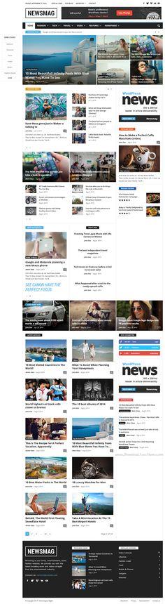 Newsmag Modern News #Magazine Blog WP Theme #Premium #WordPress #design
