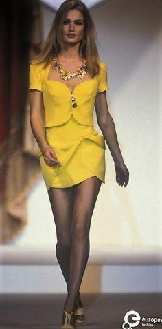 Karen Mulder - Gianni Versace, Spring-Summer 1991, Couture