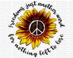 Freedom Peace sign sunflower design Sublimation Transfer, Heat Transfer, Ready To Press Sublimation Heat Transfer, DIY Shirt Sublimation Sunflower Pictures, Sunflower Art, Sunflower Tattoo Design, Sunflower Colors, Peace Sign Drawing, Peace Sign Art, Emo, Peace Sign Tattoos, Tumblr