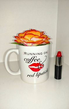 Hey, I found this really awesome Etsy listing at https://www.etsy.com/listing/257651891/running-on-coffee-red-lipstick-coffee