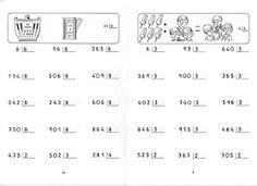 FICHAS PARA NIÑOS: FICHAS DE DIVISIONES PARA IMPRIMIR GRATIS Teaching Materials, Teaching Resources, Homeschool, Math Equations, Education, Gabriel, Maths, Peru, David