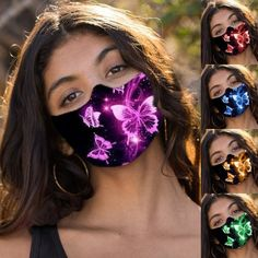 -Adult Butterfly Diamonds Mask Mouth Face Cover Cotton Dust Reusable Washable Protection Cloth Shields Pattern Mask mascarillas – Ziloqa.org Face Facial, Facial Serum, Facial Skin Care, Facial Masks, Spot Treatment, Flu Mask, Acne Oil, Skin Cleanse