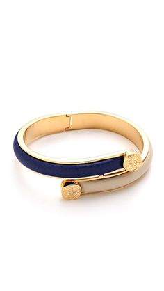 Marc by Marc Jacobs turnlock leather bracelet.