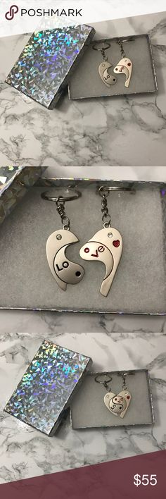 Couple Keychains With Valentine's Day round the corner, this would be a great gift! Beautiful, never used, will come in a gift box. May have very small imperfections, if any! Please ask me before purchase so I can examine and confirm! Accessories Key & Card Holders