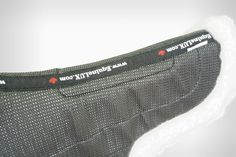 EquineLUX SLIP-STOPPING Shaped HUNTER Saddle Pad - Non-Slip mesh upper steadily secures saddle pad under the saddle... http://www.equinelux.com/saddle-pad-H101-BW.php