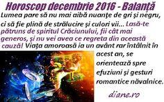 Horoscop Balanţă decembrie 2016 Astrology