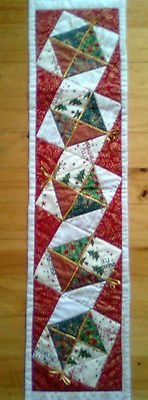 Patchwork Table Runner Pre Cut Fabric Kit And Pattern Make Yourself Christmas