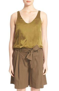 3.1 PHILLIP LIM Twisted Hem Silk Tank. #3.1philliplim #cloth #