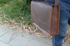 leather messenger bagmens leather messenger bag by PopularMiles