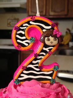 Dora the Explorer birthday candle