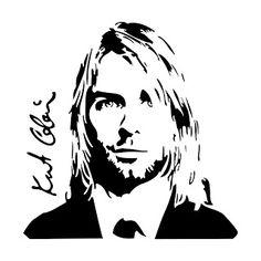 Andrea Cabrera: Vector silueta Kurt Cobain
