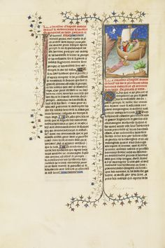 'Julius Caesar, Escaping from the Island of Pharos, Swims to a Boat while Holding a Letter' (Anon., c. 1413-1415).