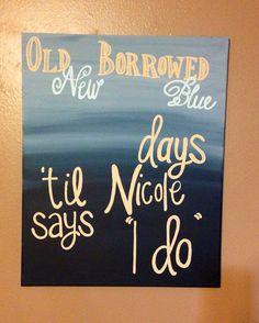 Something old new borrowed blue on Etsy, $20.00