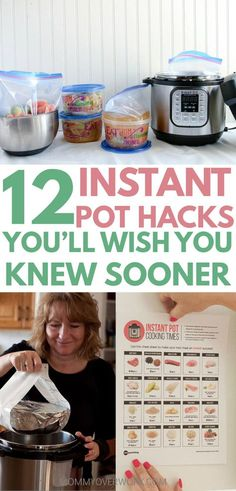 INSTANT POT TIPS, tricks, hacks for beginners to advanced to maximize the 7 in 1 insta-pot duo or lux. seamless freezer cooking for faster family favorite recipes; convert from crockpot, slow cooker, electric pressure cooker; Power Pressure Cooker, Instant Pot Pressure Cooker, Electric Pressure Cooker, Pressure Pot, Pressure Cooker Times, Pressure King, Instant Cooker, Pressure Cooking Recipes, Freezer Cooking