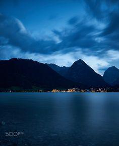 Bluehour at Lake Achensee by Alexander Hartmann / 500px Austria, Ocean, Mountains, Travel, Viajes, The Ocean, Destinations, Traveling, Trips