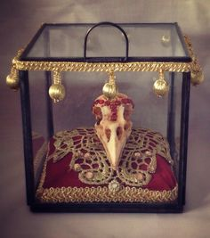 Crow Skull Reliquary The Morrigan Gothic Shrine Decorative Dark Macabre Art Cult Treasures by TheHouseOfMadLucy on Etsy https://www.etsy.com/listing/465198751/crow-skull-reliquary-the-morrigan-gothic