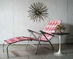Stylish retro patio furniture.