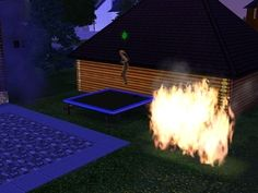 Or too preoccupied with fun to address emergencies. | The 29 Weirdest Things Ever To Happen When Playing The Sims