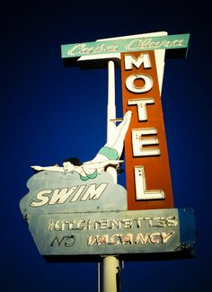 Casa Clara Motel - Love the swimer. $55 #onelulu #etsy Oh, #signporn