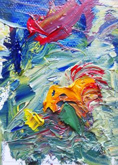 ACEO Limited edition Print abstract thick oil by brandycattoor, $3.50