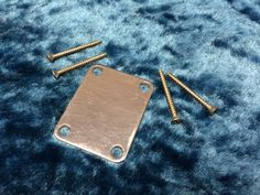 Fender Strat Neck Plate with Screws - Guitar Parts Project - Free Ship!!!!!!! #Fender