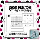 This is a cut-and-paste activity in which students are given a worksheet with graphs, and another worksheet with linear equations written in standa...