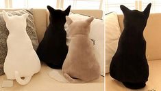 Achieve the purrrfect aesthetic with this Plush Cat Pillow from just instead of Cat Pillow, Plush, Throw Pillows, Cats, Shopping, Toss Pillows, Gatos, Cushions, Decorative Pillows