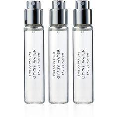 Byredo Gypsy Water Eau de Parfum Travel Spray ($115) ❤ liked on Polyvore featuring beauty products, fragrance, beauty, fillers, perfume, makeup, eau de perfume, purse makeup bag, perfume fragrances and travel dopp kit