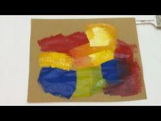 Pintar é fácil - Pintura em Tela -Abstrato - Iniciantes - AULA 8