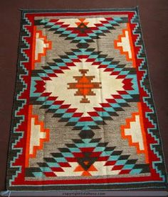 Navajo Rug pattern - paint this on a cheap Ikea rug?