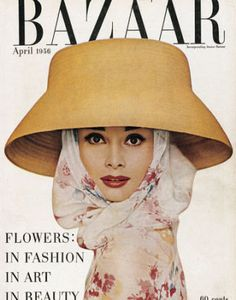 39 photos of iconic Harper's BAZAAR covers through the years: Audrey Hepburn on the 1956 cover.