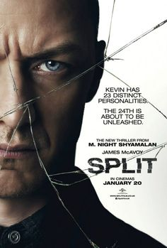 Split on DVD April 2017 starring James McAvoy, Anya Taylor-Joy, Betty Buckley, Jessica Sula. While the mental divisions of those with dissociative identity disorder have long fascinated and eluded science, it is believed that some ca Kevin James, Film 2017, James Mcavoy Split, Split Movie, Betty Buckley, Bon Film, Image Film, I Love Cinema, English Movies